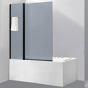 Стеклянная шторка для ванны AVKO Glass 542-8 100х140 см перегородка для ванной Матовое