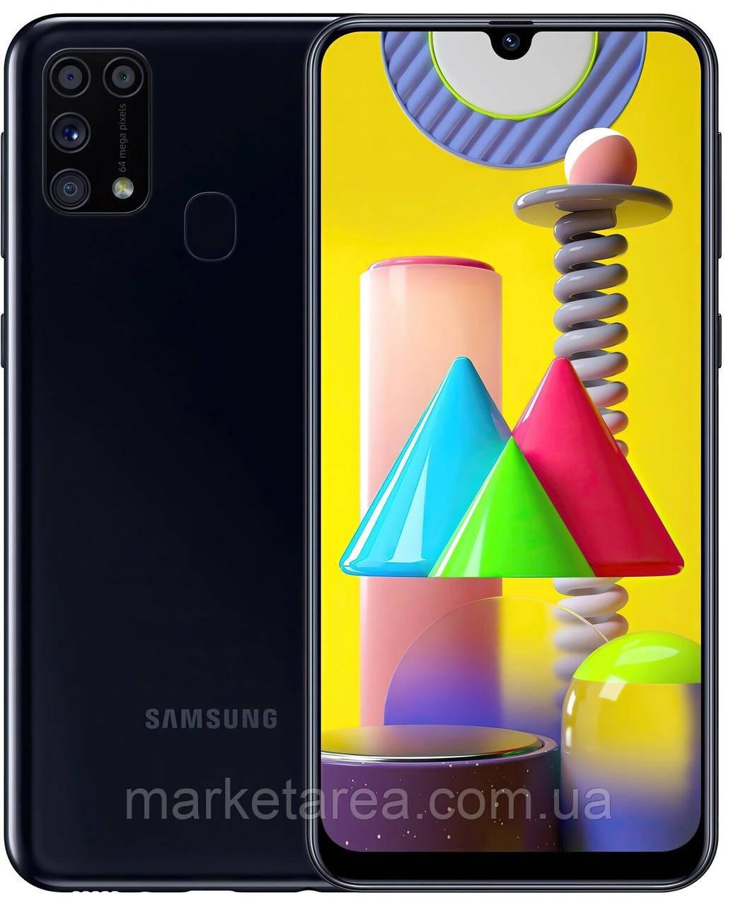 Смартфон с нфс модулем и емким аккумулятором Samsung Galaxy M31 6/128Gb Black Global NFC (Гарантия 12 мес)