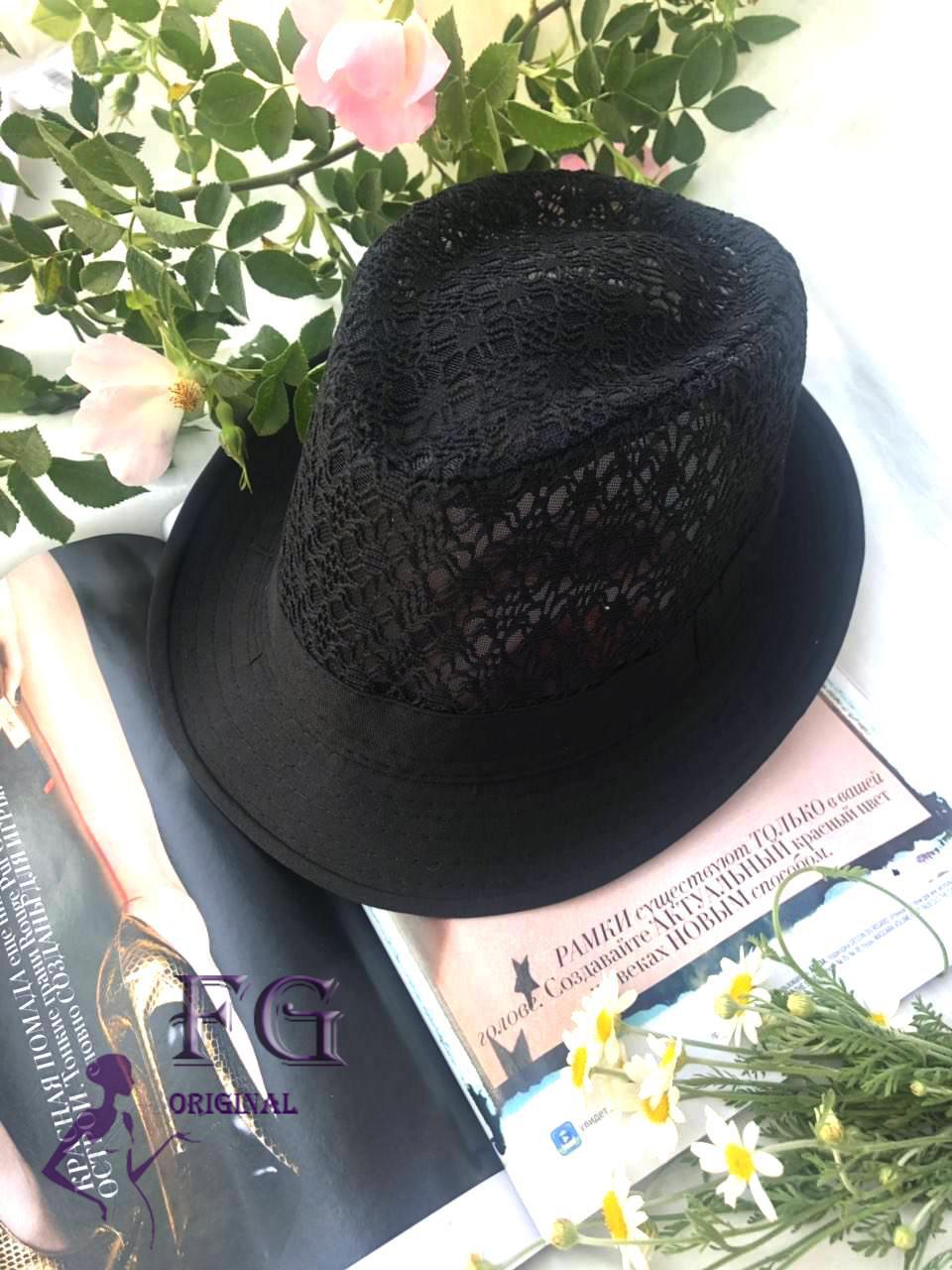 "Шляпа челентанка ""Мегги"" ажурная"