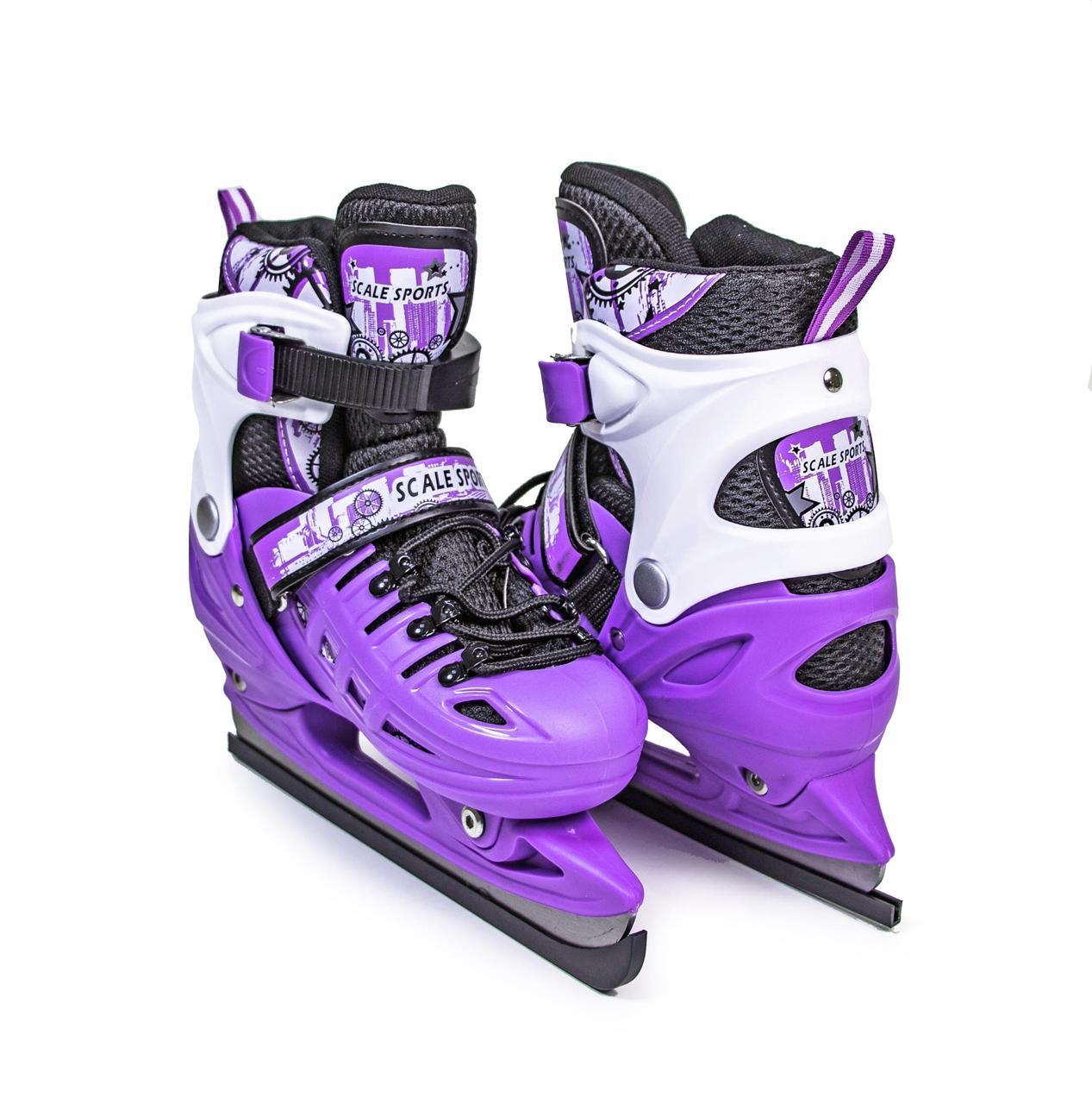 Ковзани розсувні Scale Sport. Violet, розміри 29-33; 34-38; 38-41