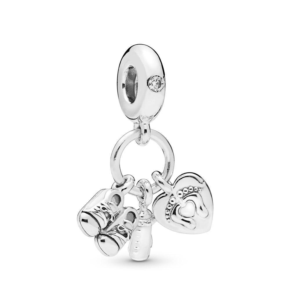 """Срібна підвіска-намистина """"Мій малюк"""" Pandora 798106CZ"""