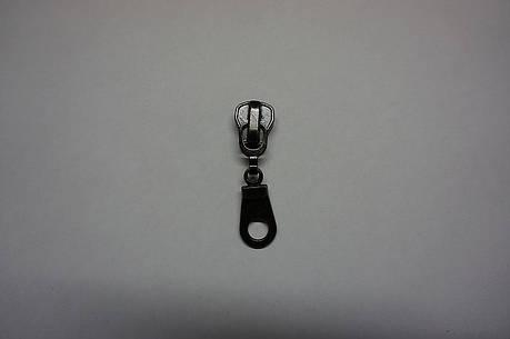 Бегунок для металлической молнии №10 цвет никель, т. никель, золото (Турция), фото 2