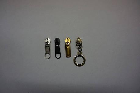 Бегунок сумочный №5 цвет никель, антик, т. никель, золото (Турция), фото 2