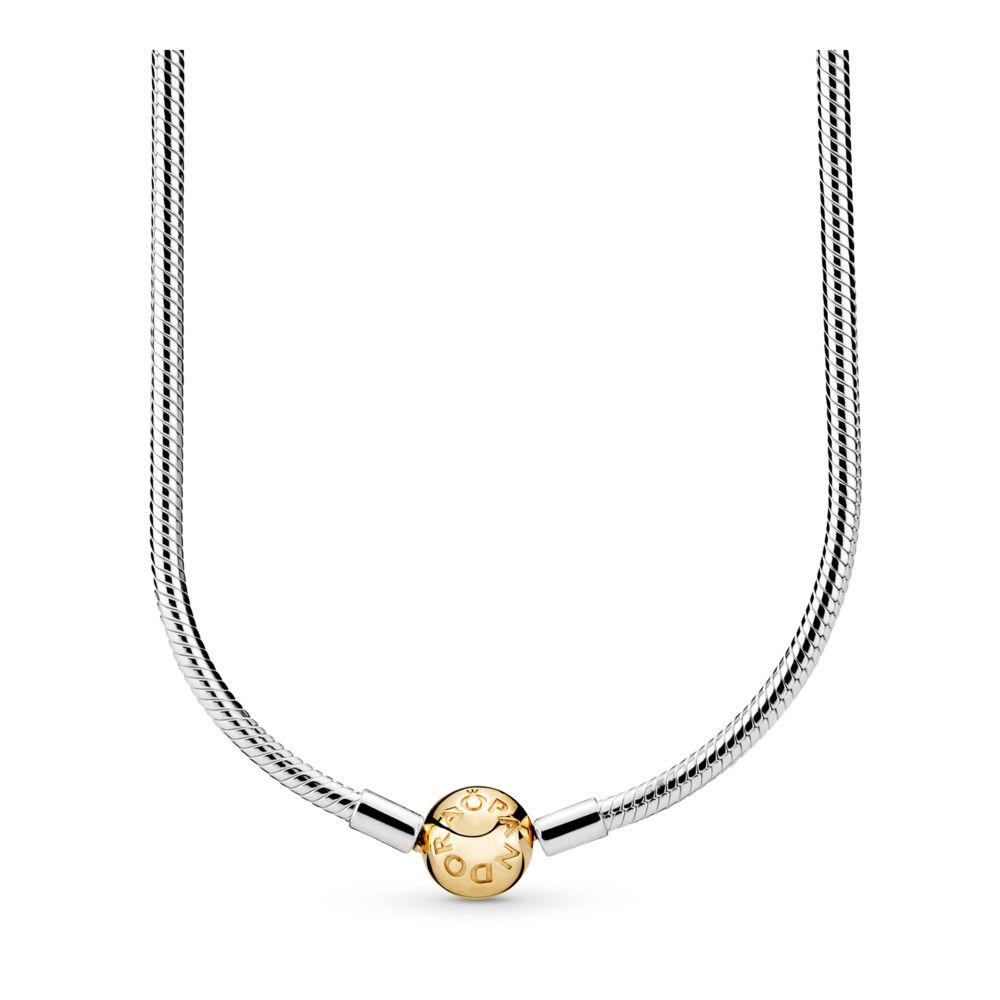 Серебряное колье Pandora Moments Shine 368004