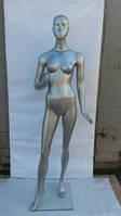 Манекен женский реалистичный серебро