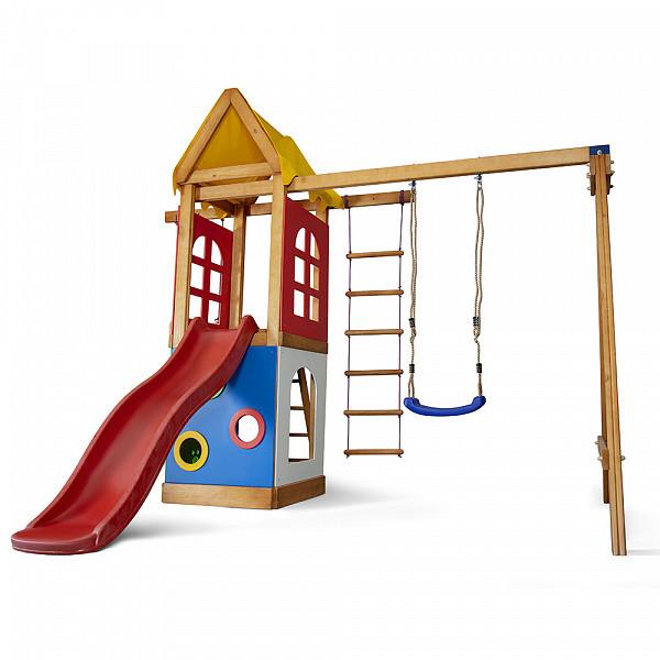 Детская спортивная деревянная площадка Babyland-25, размер 2,4х1,8х3.1м