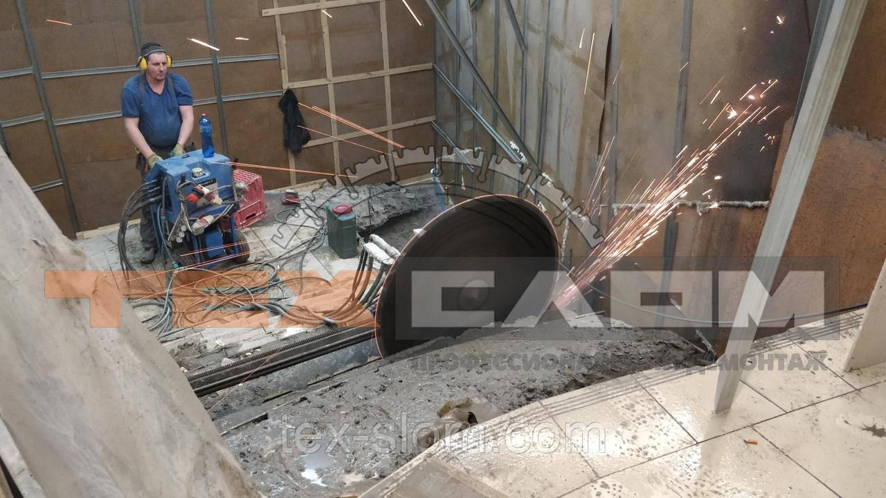 Демонтаж высоко армированного бетона