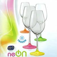 Набор бокалов для вина Bohemia Neon 350 мл 4 пр b40729, фото 1