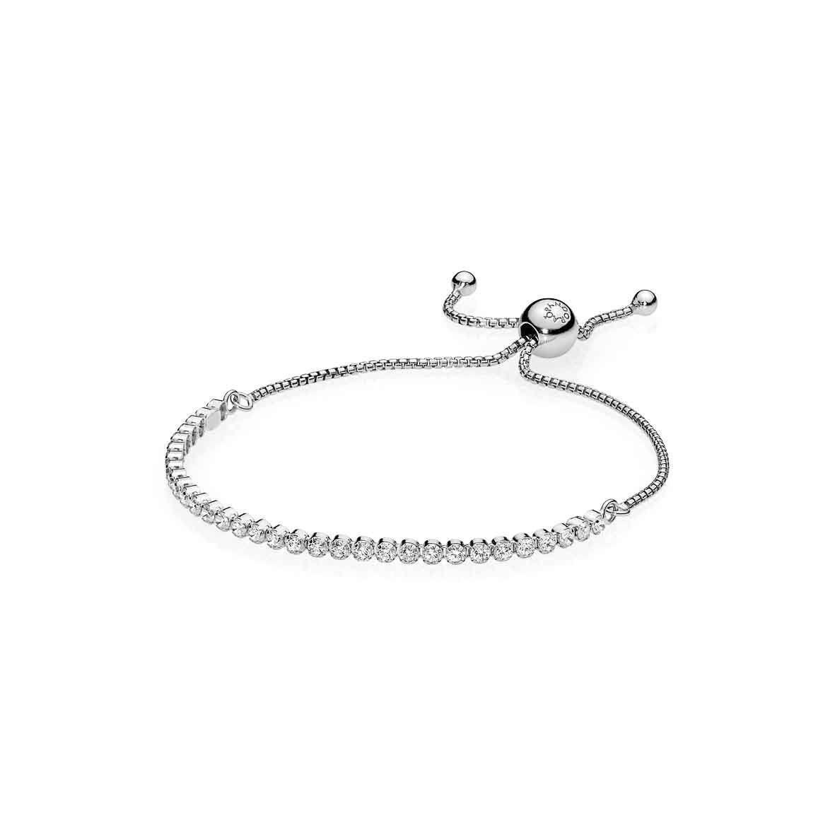 Срібний браслет-слайдер Pandora 590524CZ
