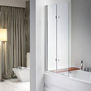 Стеклянная шторка для ванны AVKO Glass 647 100х140 см перегородка для ванной