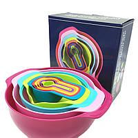 Набір Rainbow кухонних мисок з мірними ложами Cooking House, фото 1