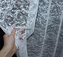 """Тюль жаккард, коллекция """"Мрамор Al-2"""", цвет белый  Код 702т"""