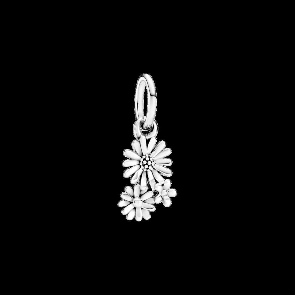 "Срібна намистина Pandora Moments ""Букет ромашок"" 798819C00"