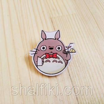 """Мой сосед Тоторо официант / My neighbor Totoro"" брошь акриловая"