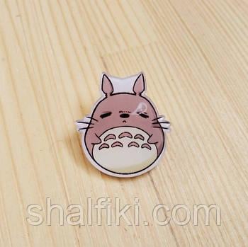 """""""Мой сосед Тоторо пускает пузыри / My neighbor Totoro"""" брошь акриловая"""