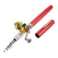 Карманная мини удочка Fishing Rod в форме ручки, красная
