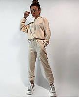 Спортивний костюм жіночий з укороченою кофтою і вільними штанами (Норма і батал), фото 3
