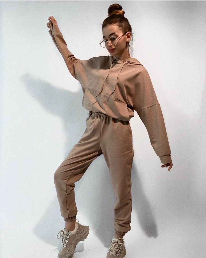 Спортивний костюм жіночий з укороченою кофтою і вільними штанами (Норма і батал)