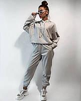 Спортивний костюм жіночий з укороченою кофтою і вільними штанами (Норма і батал), фото 5