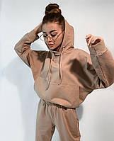 Спортивний костюм жіночий з укороченою кофтою і вільними штанами (Норма і батал), фото 7