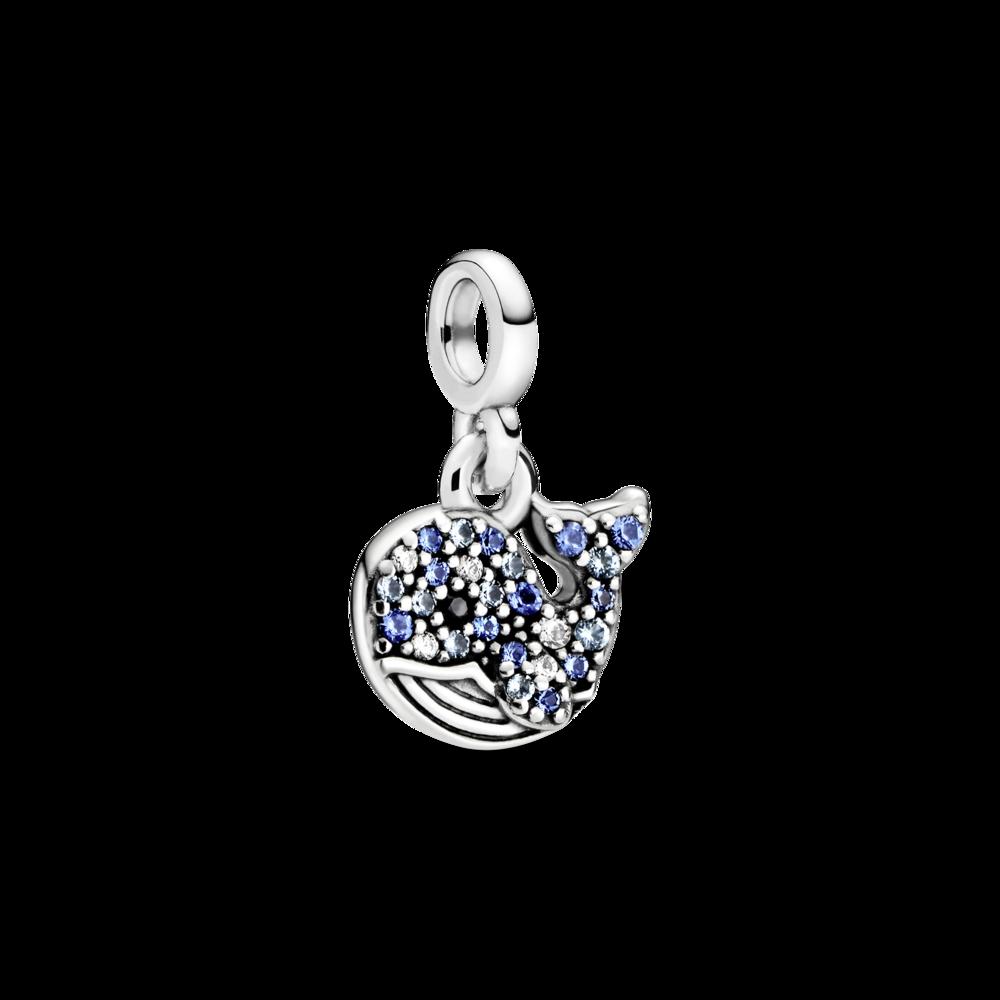 """Срібна намистина """"Мій синій кит"""" на браслет Pandora Me 798972C01"""