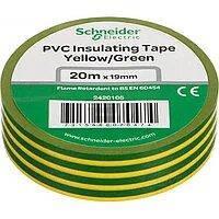 Изолента ПВХ 20m x 19mm Schneider Electric желто-зеленая