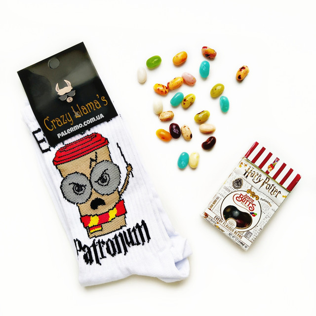 набір Гаррі Поттера боби + шкарпетки Еспресо Патронум