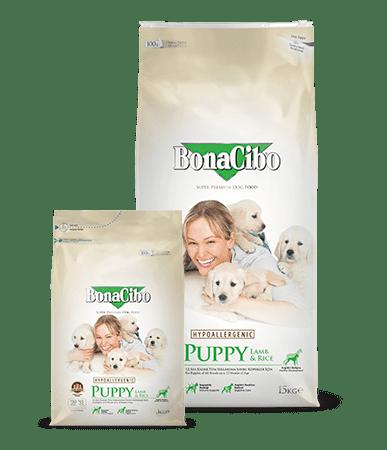 Корм BonaCibo Puppy Lamb&Rice для щенков 15 kg