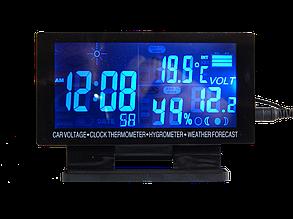 Часы автомобильные ZIRY EC-60 6-in-1 время, дата, влажность, напряжение, температура наруж/внутр