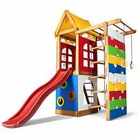 Дитячий спортивний дерев'яний майданчик Babyland-28, розмір 2,1х0.75х1.865м, фото 1