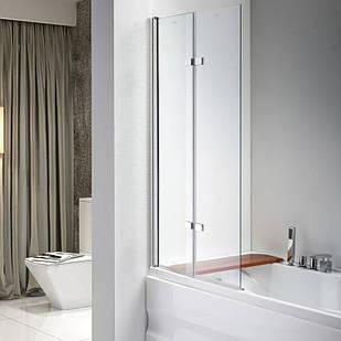 Стеклянная шторка для ванны AVKO Glass 647 120х140 см перегородка для ванной