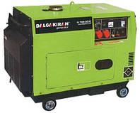 Дизельная миниэлектростанция DJ 7000 DG-ECS 6 кВт (автоматический запуск, электростартер, капот)