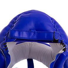 Боксерский шлем с бампером кожаный синий TWINS (СКИДКА НА р. M) HGL-10 OF, фото 3