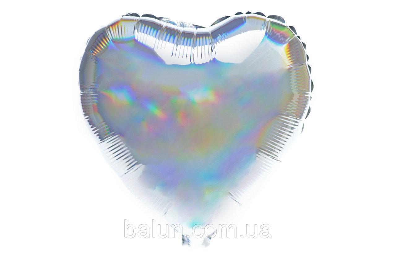 Серце голограма (Срібний) 43*43