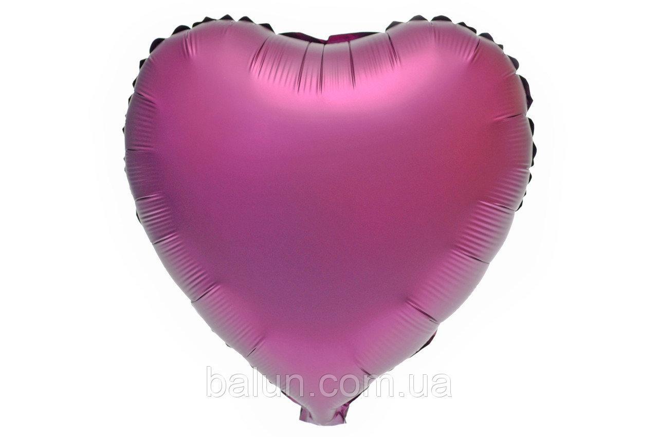 Серце сатин (Бордовий) 43*43