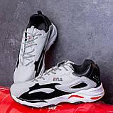 Мужские кроссовки Ена буст (серо-черные), фото 2
