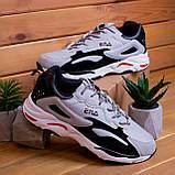 Мужские кроссовки Ена буст (серо-черные), фото 5
