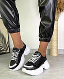 Женские кожаные кроссовки на платформе в разных цветах код 3424, фото 2