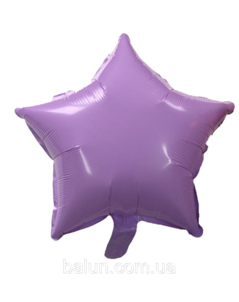 "Фольгована зірка  макарун (Пурпурний) 18""(45см)"