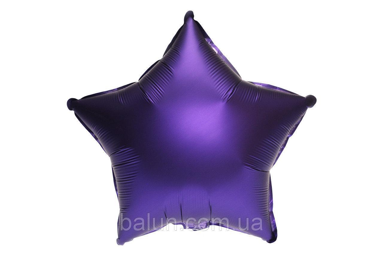 """Фольгована зірка сатин (Пурпурний) 18""""(45см)"""