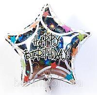 """Зірка """"Happy Birthday"""" кольорова"""
