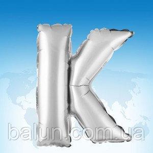 """Срібна буква """"K"""" 16'"""