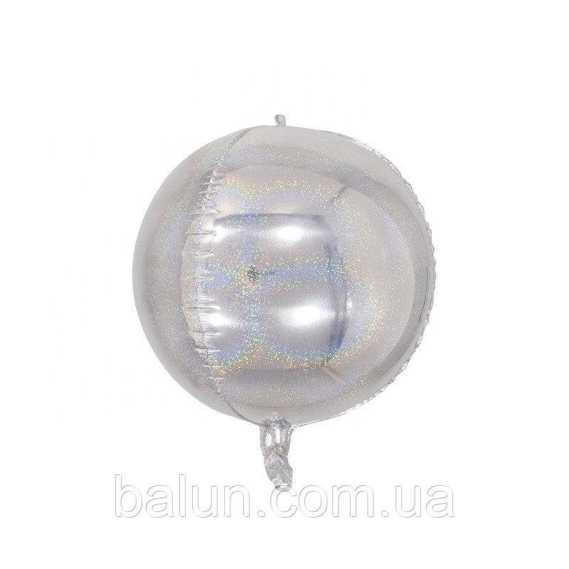 Cфера голограма срібна 24'
