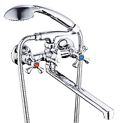 Смеситель для ванны Zegor DAK7-A827 (D5Q) с длинным гусаком (носиком)