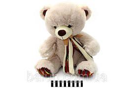 Ведмедик  з шарфом муз.(2 кол.) 36 см  3978/36
