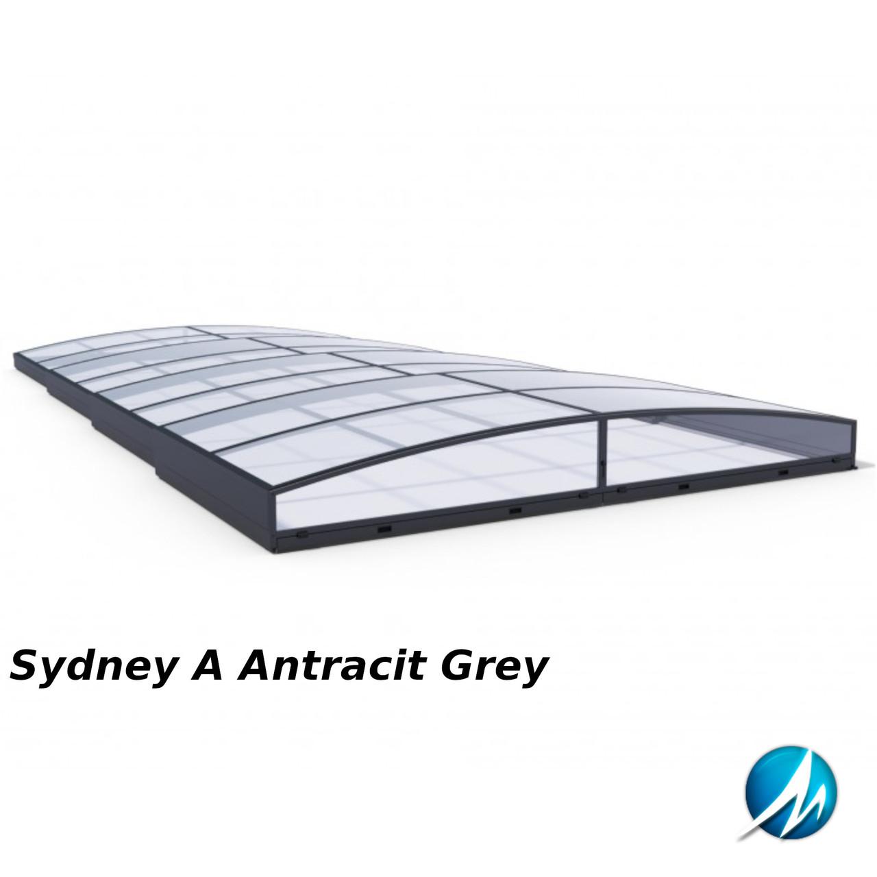 Павильон для бассейна Sydney A 3,86х6,46х0,45м - Antracit Grey