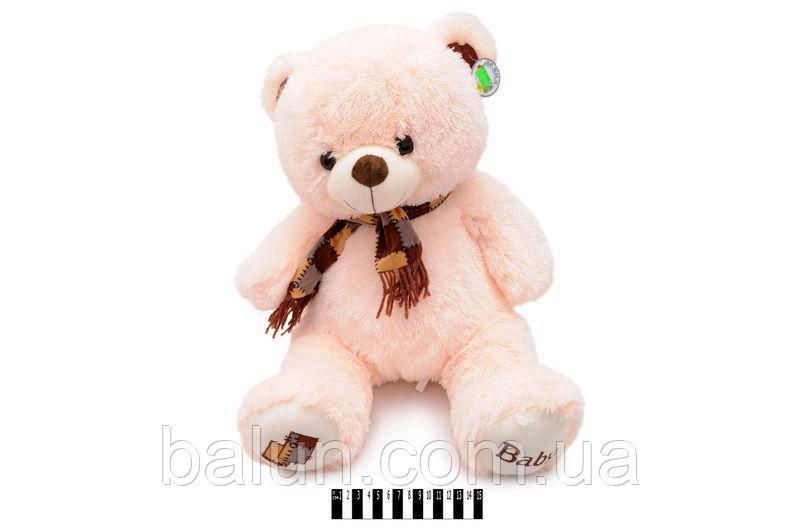 Ведмедик з шарфом муз. 40см молочн. 1269/40
