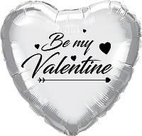 "Наклейка ""Be my Valentine"" (1) 18"" чорна"