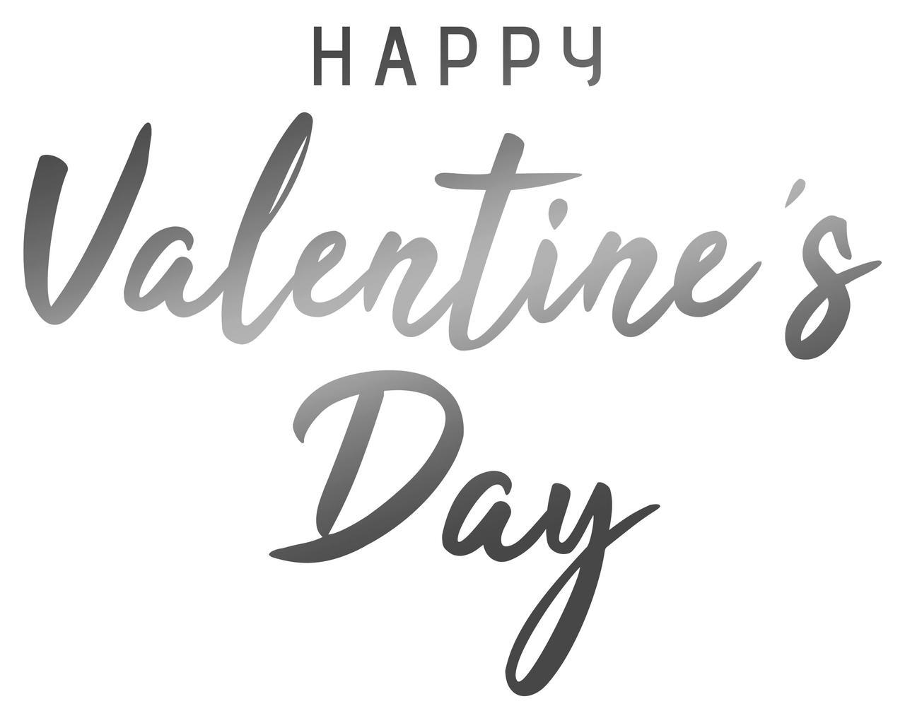 "Наклейка ""Happy valentine's Day"" (1) 18"" дзеракальне срібло"