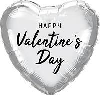 """Наклейка """"Happy Valentine's Day"""" (1) 18"""" чорна"""